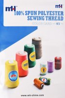 Carta de color de hilo de coser de poliéster MH
