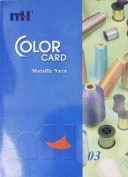 Carta de color de hilo metálico MH