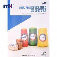 Carta de color de hilo de coser de poliéster BOLIVIA